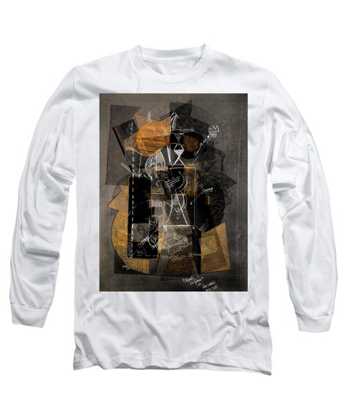 Objects In Space With Ochre Long Sleeve T-Shirt