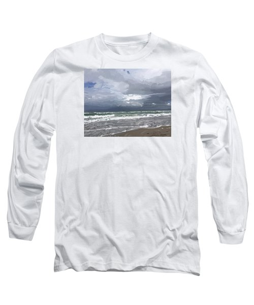 Ocean And Clouds Over Beach At Hobe Sound Long Sleeve T-Shirt