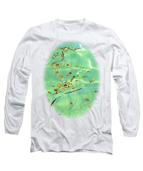 Ocean Flowers Long Sleeve T-Shirt by Linda Hollis