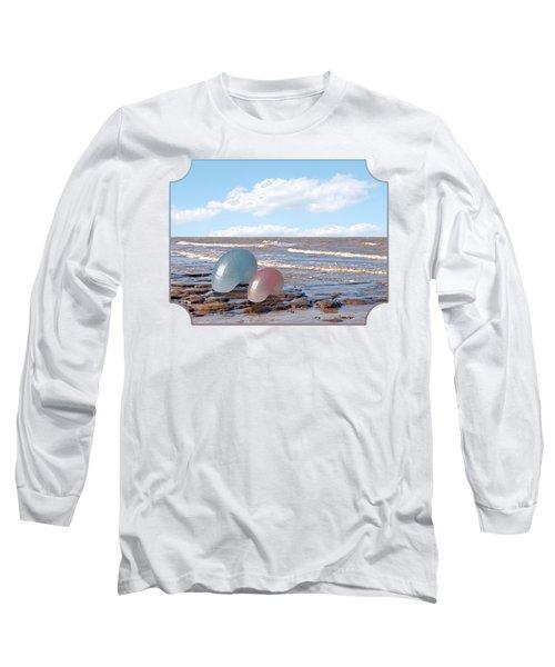 Ocean Love Affair - Nautilus Shells - Square Long Sleeve T-Shirt