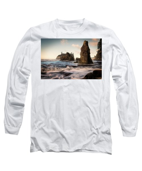 Long Sleeve T-Shirt featuring the photograph Ocean Spire Signature Series by Chris McKenna