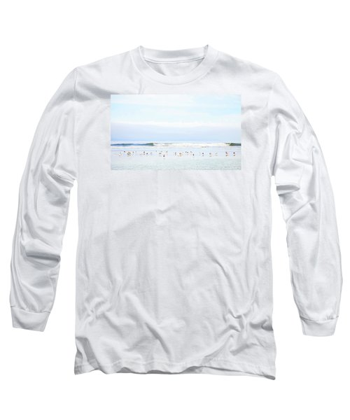 Long Sleeve T-Shirt featuring the photograph Ocean View With Seagulls by Theresa Tahara
