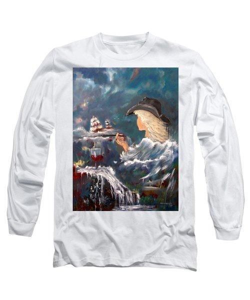 Ocean Wine Long Sleeve T-Shirt