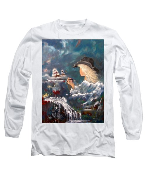 Ocean Wine Long Sleeve T-Shirt