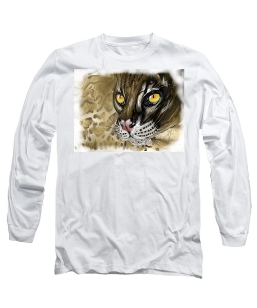 Ocelot Long Sleeve T-Shirt by Darren Cannell