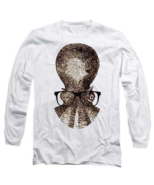 Octopus Head Long Sleeve T-Shirt by Frank Tschakert