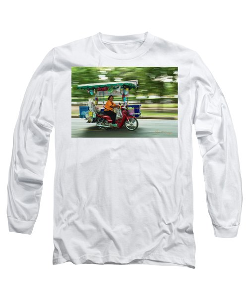 Long Sleeve T-Shirt featuring the photograph Off To Work by Dan McGeorge