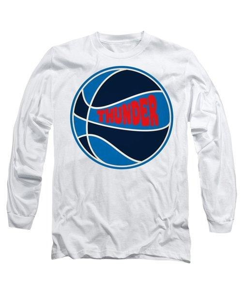 Long Sleeve T-Shirt featuring the photograph Oklahoma City Thunder Retro Shirt by Joe Hamilton