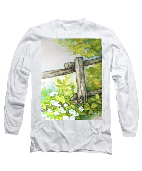 Old Backyard Fence Long Sleeve T-Shirt