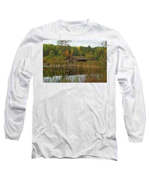 Old Bait Shop On Twin Lake_9626 Long Sleeve T-Shirt by Michael Peychich