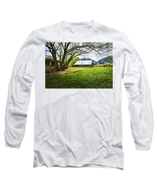 Old Barn In Eden Utah Long Sleeve T-Shirt