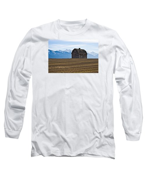 Old Barn, Mission Mountains 2 Long Sleeve T-Shirt
