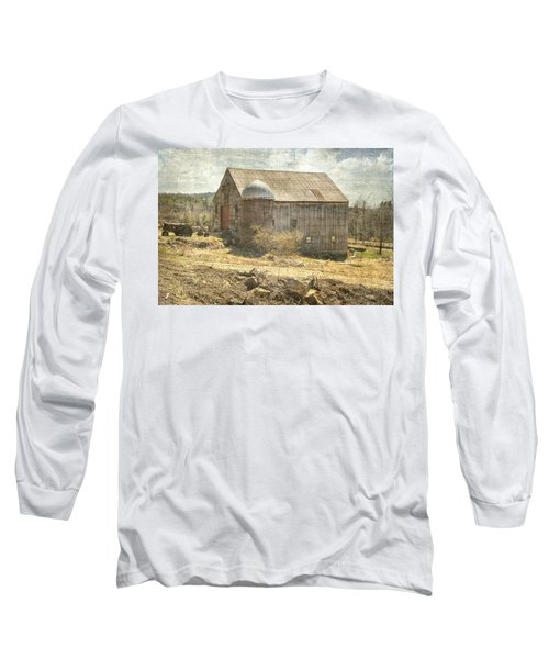 Old Barn Still Standing  Long Sleeve T-Shirt by Betty Pauwels