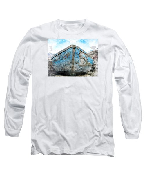 Old Blue # 2 Long Sleeve T-Shirt by Ed Hall