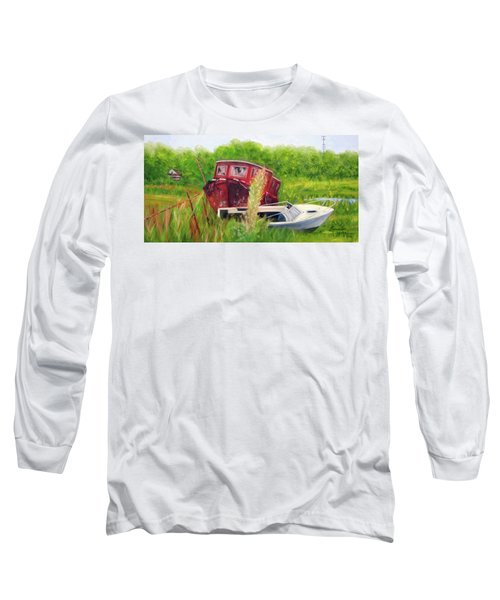old boats in Belford Long Sleeve T-Shirt