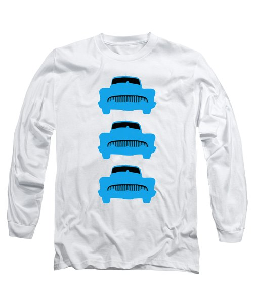 Old Buicks Blue Times Three Long Sleeve T-Shirt