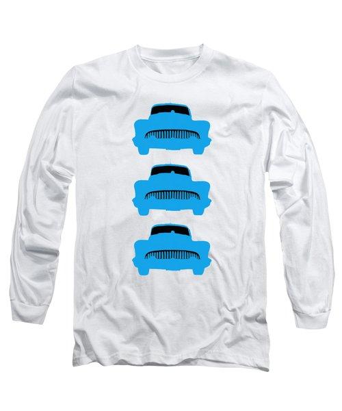 Old Buicks Blue Times Three Long Sleeve T-Shirt