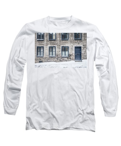 Old Building In Quebec City Long Sleeve T-Shirt