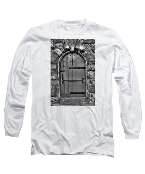 Long Sleeve T-Shirt featuring the photograph Old Church Door by Alana Ranney