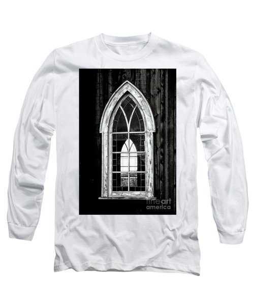 Long Sleeve T-Shirt featuring the photograph Old Church Window by Brad Allen Fine Art
