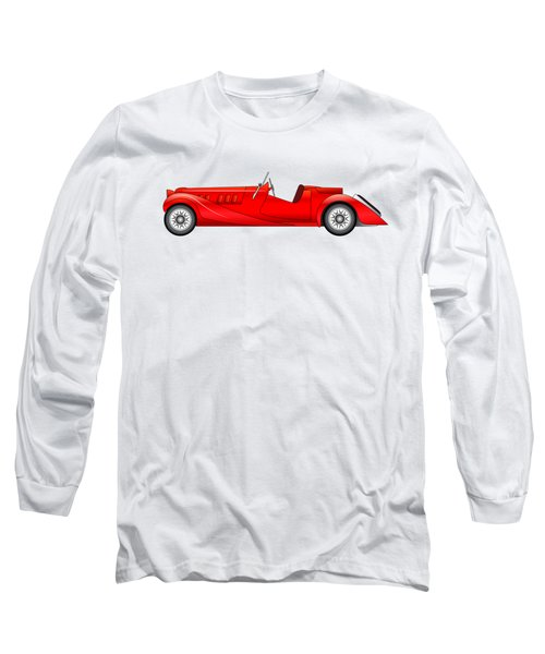 Long Sleeve T-Shirt featuring the digital art Old Classic Race Car by Michal Boubin