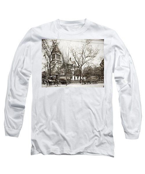 Old Courthouse Public Square Wilkes Barre Pa Late 1800s Long Sleeve T-Shirt