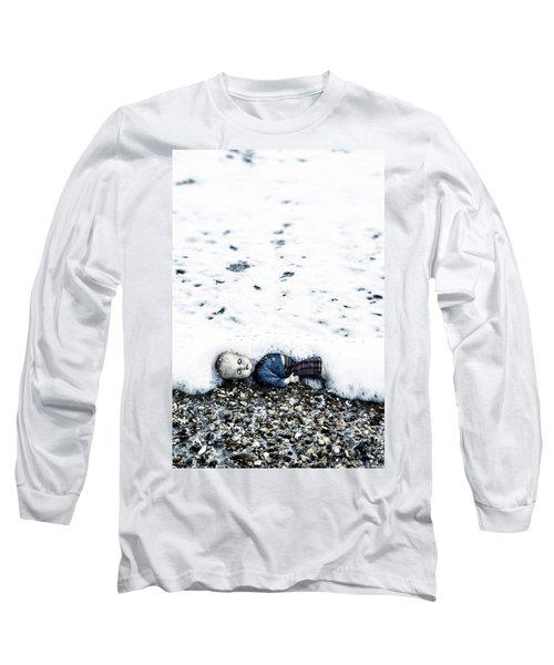 Old Doll On The Beach Long Sleeve T-Shirt