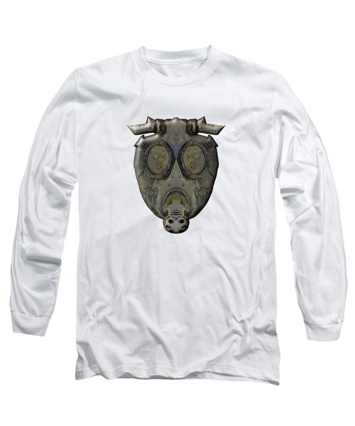 Old Gas Mask Long Sleeve T-Shirt