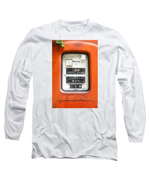 Long Sleeve T-Shirt featuring the photograph Old Gas Pump by Tom Singleton