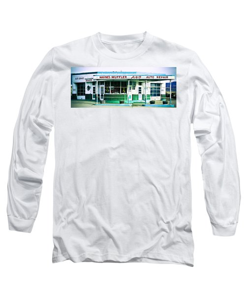 Old Gas Station Green Tile Long Sleeve T-Shirt