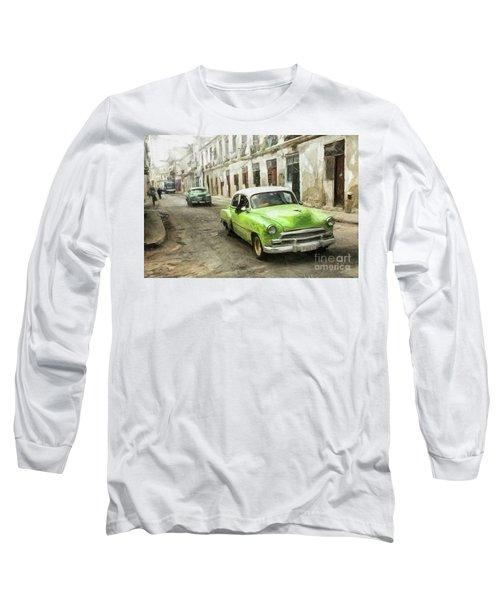 Old Green Car Long Sleeve T-Shirt