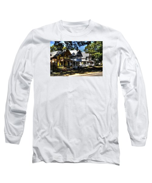 Old Homes Martha's Vineyard Long Sleeve T-Shirt by Donald Williams
