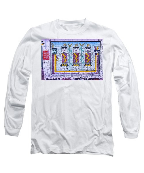Old Indian Mural Long Sleeve T-Shirt