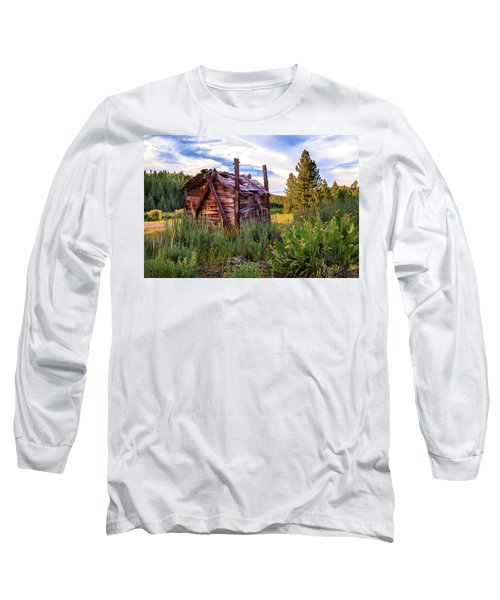 Old Lumber Mill Cabin Long Sleeve T-Shirt