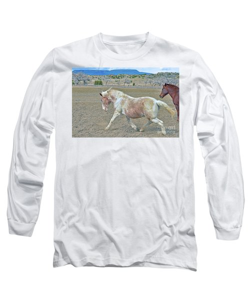 Long Sleeve T-Shirt featuring the photograph Old Mare by Debby Pueschel
