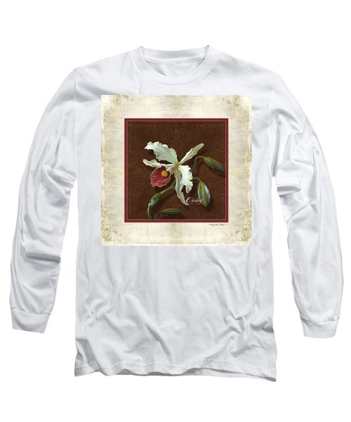 Old Masters Reimagined - Cattleya Orchid Long Sleeve T-Shirt