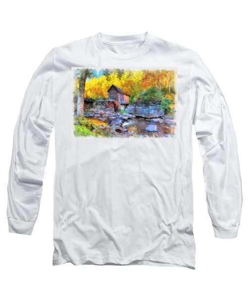 Old Mill Aquarelle Long Sleeve T-Shirt