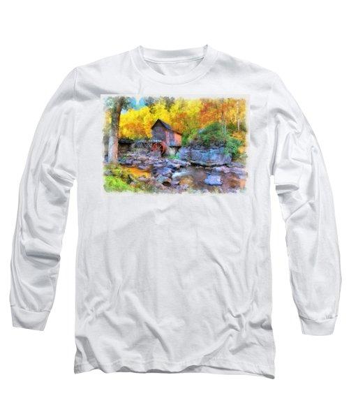 Old Mill Aquarelle Long Sleeve T-Shirt