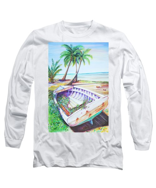 Old Paint Long Sleeve T-Shirt by Patricia Piffath