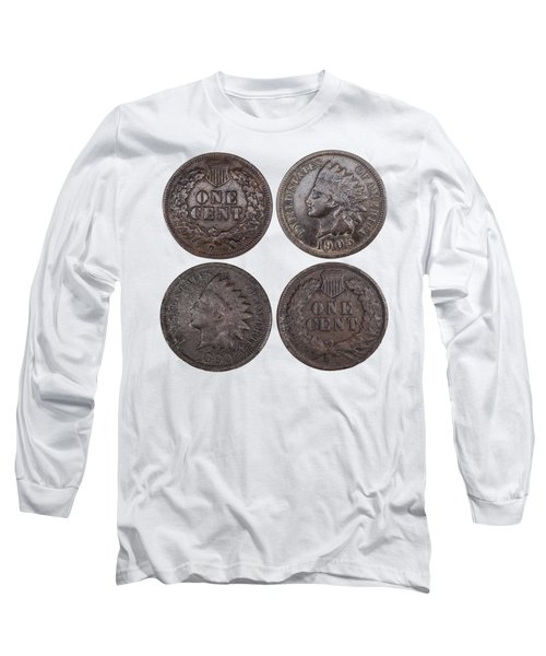 Long Sleeve T-Shirt featuring the photograph Old Pennies 2016-1 by Thomas Young