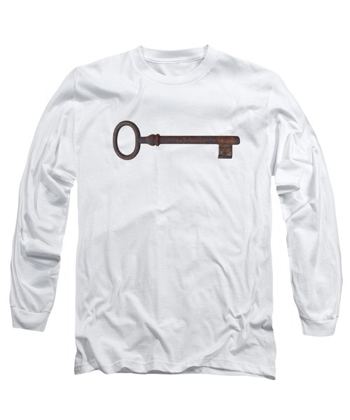 Long Sleeve T-Shirt featuring the photograph Old Rusty Key by Michal Boubin