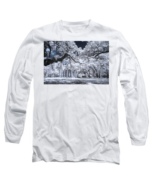 Old Sheldon Church In Infrared Long Sleeve T-Shirt