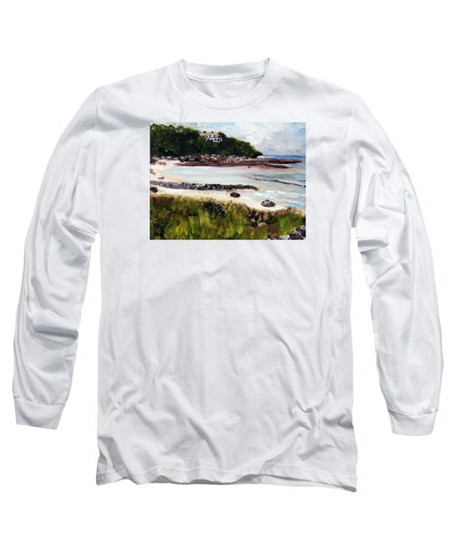 Old Silver Beach Falmouth Long Sleeve T-Shirt by Michael Helfen