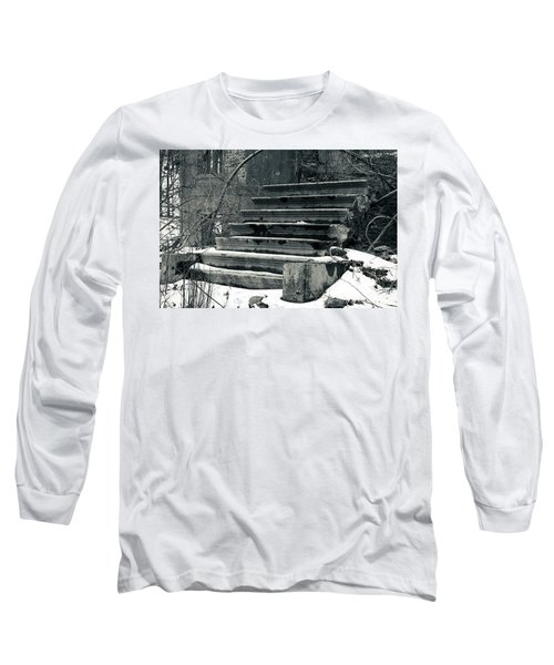Old Stairs To Nowhere Long Sleeve T-Shirt by Jeff Severson