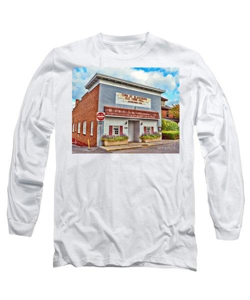 Old Town Hall Blacksburg Virginia Est 1798 Long Sleeve T-Shirt by Kerri Farley