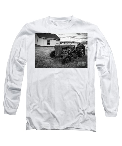 Long Sleeve T-Shirt featuring the photograph Old Vintage Tractor Iceland by Edward Fielding