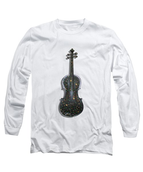 Old Violin With Painted Symbols Long Sleeve T-Shirt by Tom Conway