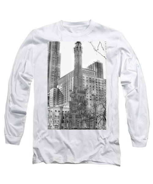 Old Water Tower - Chicago Long Sleeve T-Shirt