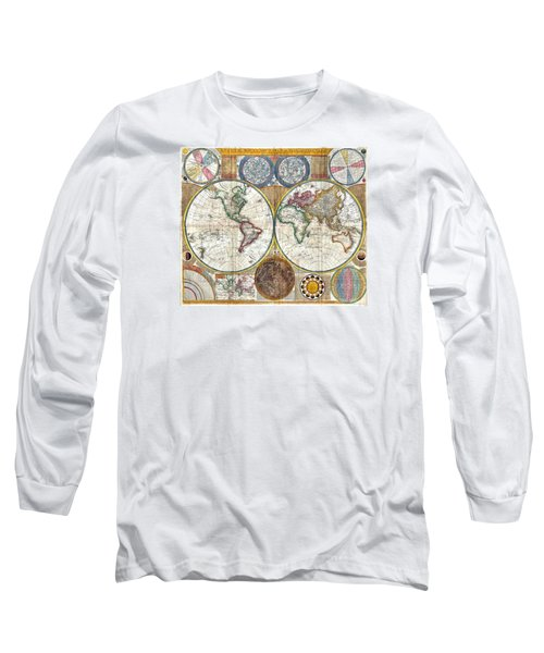 Old World Map Print From 1794 Long Sleeve T-Shirt