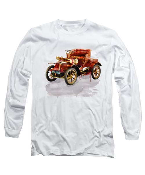 Oldtimer Car Watercolor Long Sleeve T-Shirt
